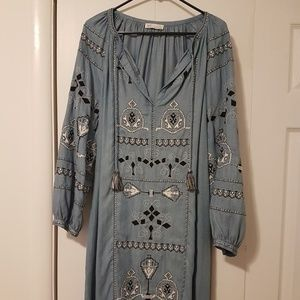 Zara Embroidered Shift Dress